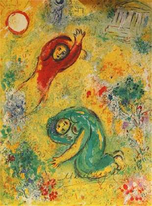 Marc Chagall Signed Lithograph 65
