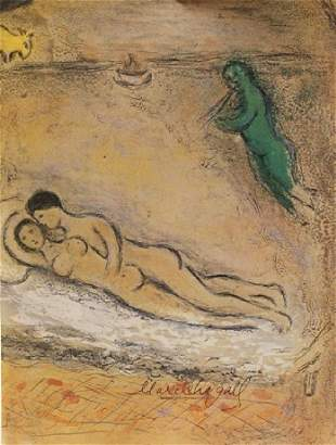 Marc Chagall Signed Lithograph 56