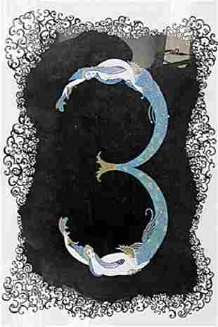 Number Three Erte Lithograph