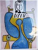 Woman and Blue Rose Pablo Picasso Lithograph