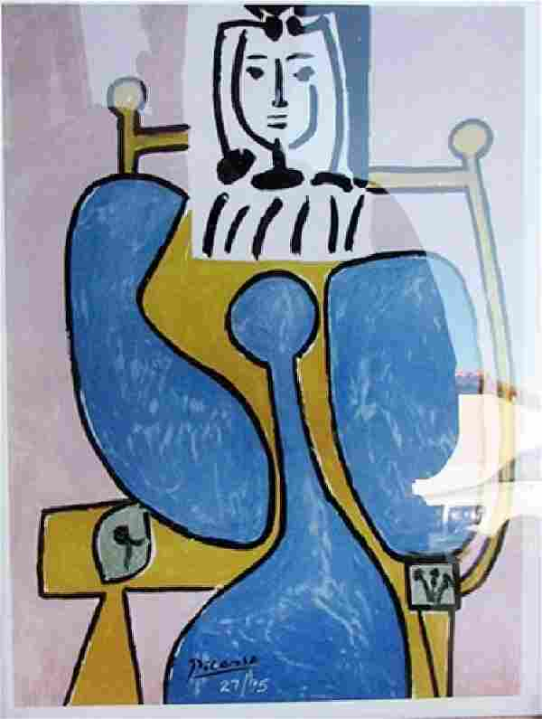 Woman and Blue Rose - Pablo Picasso - Lithograph
