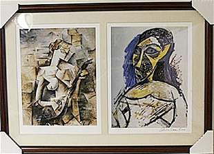 Framed 2in1 Picasso Lithographs 184EEK