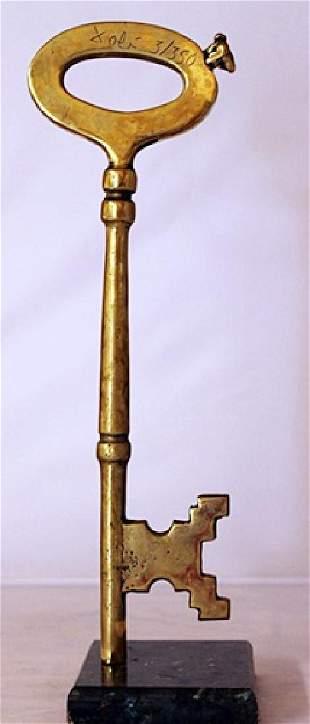 Skeleton Key Gold over Bronze Sculpture after