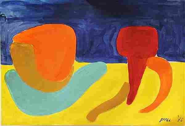 The Turtle - Karel Appel - Oil On Paper