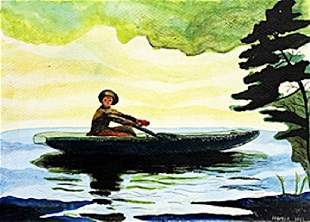 The Green Boat Winslow Homer