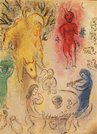 In the style of Marc Chagall Lithograph 142