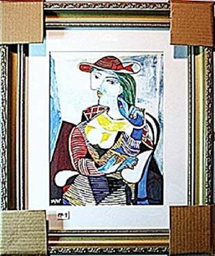 In the style of Picasso Limited Edition Portrait Of