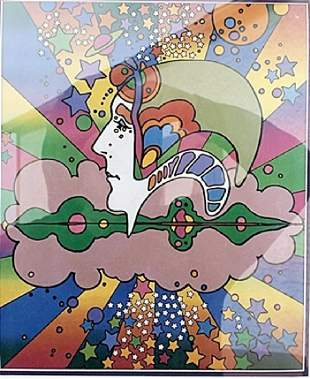 Different Drummer Peter Max Lithograph