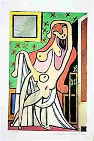In the style of Picasso Limited Edition Nude In AN