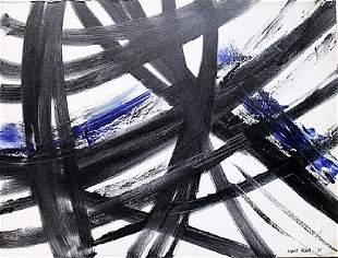 Franz Kline in the style of Oil On Canvas