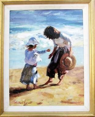 Ocean Treasure Michael Vincent Giclee On Canvas