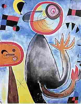 Echelles en Roue de Feu Traversant Joan Miro