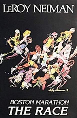 Boston Marathon In the style of LeRoy Neiman