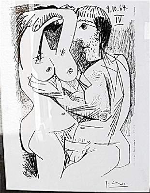 91064 IV Pablo Picasso Lithograph 238U