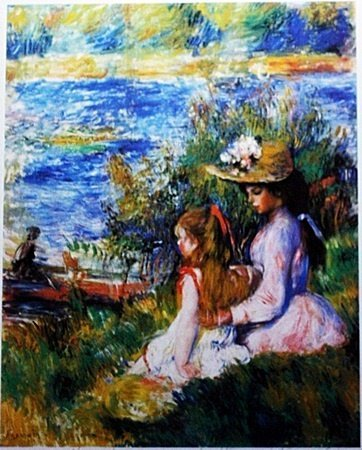 """By Renoir """"Water's Edge"""" lithograph (201)"""