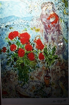 """By Chagall """"Rose Bouquet"""" Ltd. Ed. Lithograph (2017)"""