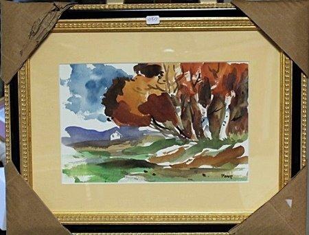 Framed Signed Watercolor on Paper (10BO)