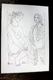 """""""Two Woman"""" Lithograph By  Pablo Picasso (72DC)"""