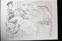 """""""Minotaur Coresing Girl"""" Lithograph By Pablo Picasso"""