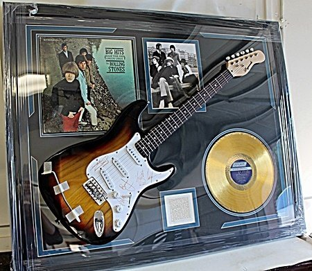 Invaluable The Rolling Stones Guitar Autographed with