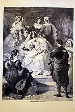 Leonora D'Este and Tasso By W. Von Kaulbach
