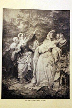 Elizabeth and Mary Stuart By W. Von Kaulbach