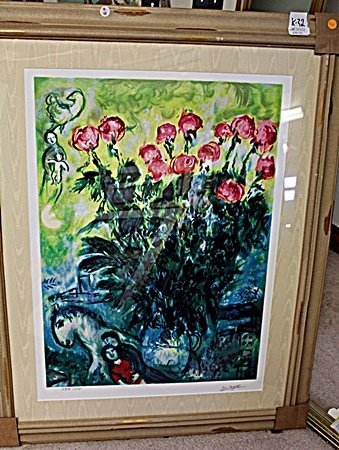 BY CHAGALL ORIGINAL LITHIOGRAPH SIGNED AR5101