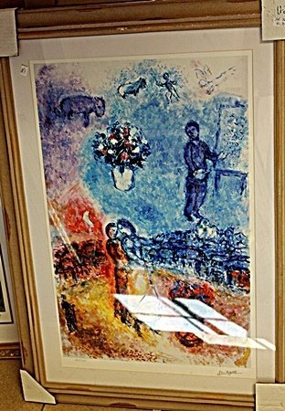 BY CHAGALL ORIGINAL LITHIOGRAPH SIGNED AR5091