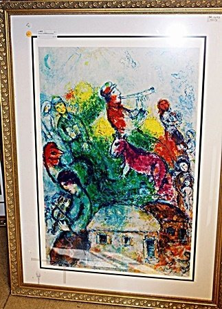 BY CHAGALL ORIGINAL LITHIOGRAPH SIGNED AR5086