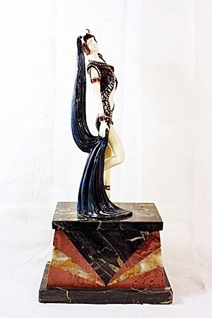 Yambo - Bronze and Ivory Sculpture After Chiparus