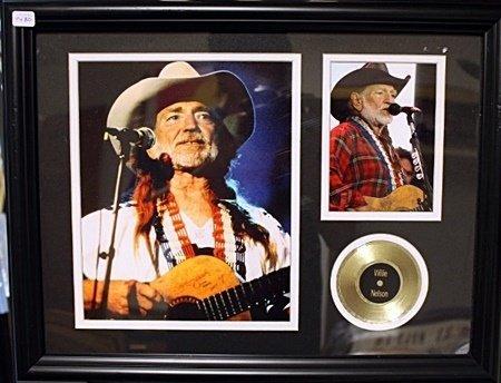 Framed  Willie Nelson Memorabilia (74BO)