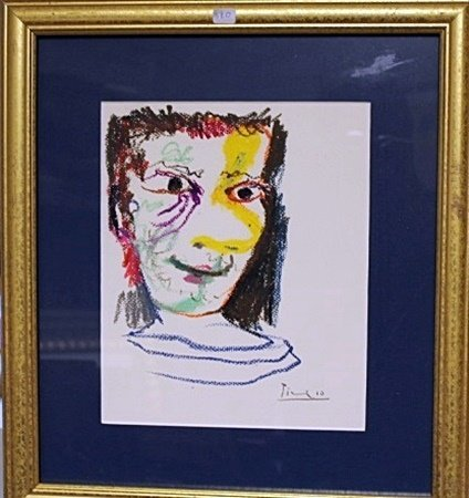 Framed By Picasso- Untitled Lithograph (3BO)