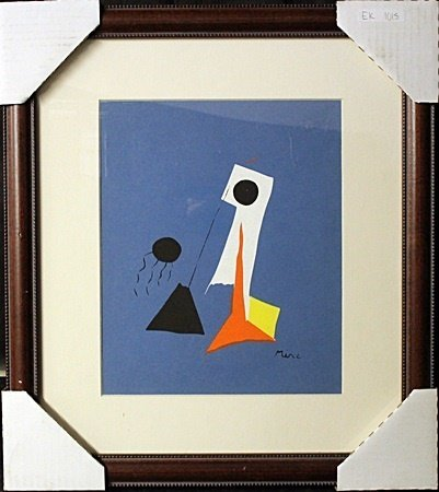 Framed Original Lithograph by Joan Miro (EK 1015)
