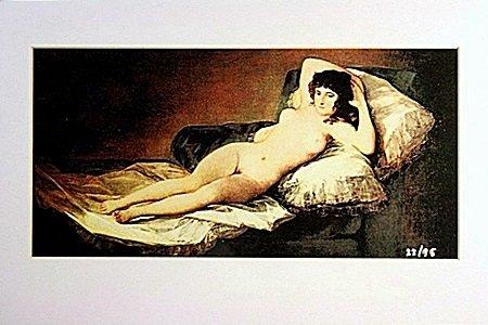 "Fransisco Goya  Limited Edition -  ""NUDE MAYA"""
