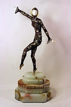 Chorus Girl - Bronze and Ivory Sculpture After Chiparus
