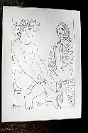 """Two Woman"" Lithograph By  Pablo Picasso (72DC)"