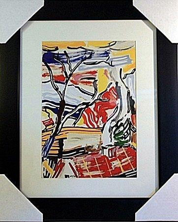 Roy Lichtenstein Limited Edition-Landscape with Red