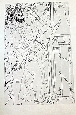 """""""Three Customer Figueres"""" Lithograph By Pablo Picasso"""