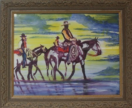 Original Oil Painting on Paper by William Verdult