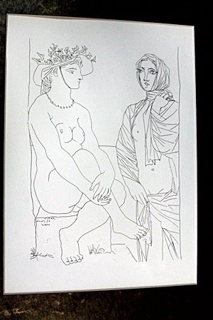 """Lithograph """"Two Woman"""" after  Pablo Picasso (72DC)"""