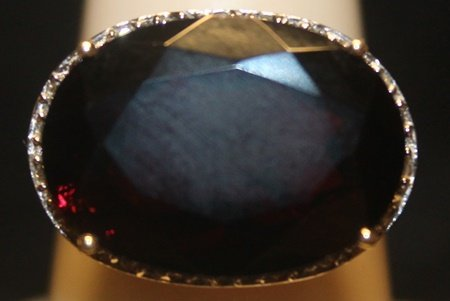 Beautiful Sapphire with Diamonds SS Ring - 2
