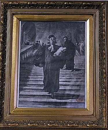Framed Honoré Daumier-The Grand Staircase of the Palace