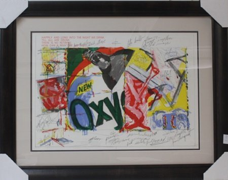 Framed Lithograph after James Rosenquist