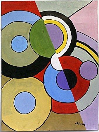 "Oil Painting ""Circunferencias"" by Robert Dalaunay"