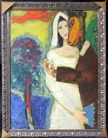 Original Oil Painting On Canvas - Signed Chagall