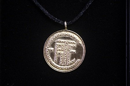 """""""Erte Initials"""" Yellow Gold Pendant Necklace By Erte"""