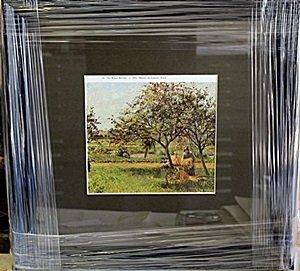 "Framed Lithograph ""The Wheel Barrow"" by Pissarro"