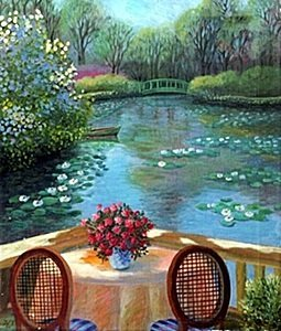 "Giclee ""The Monet's Giverny Garden"" after Alain Bonnec"