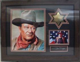 John Wayne - Custom Framed Memorabilia