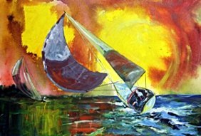 Day Sailing 15' By Michael Schofield